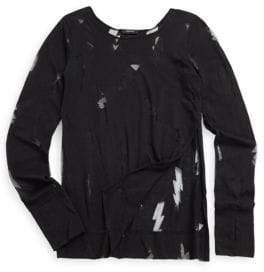 Zara Terez Girl's Pullover Lightning Print Tee