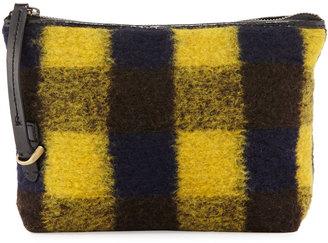 Kelsi Dagger Commuter Plaid Evening Clutch Bag, Yellow/Black $65 thestylecure.com