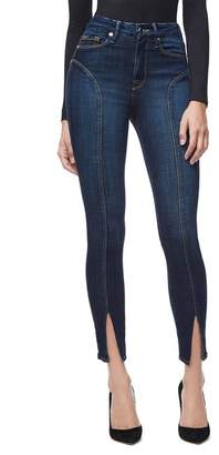 Good American Good Legs Crop Ankle Curved Seam Jeans