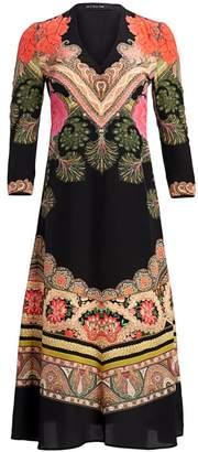 Etro Torero Printed Silk A-Line Dress