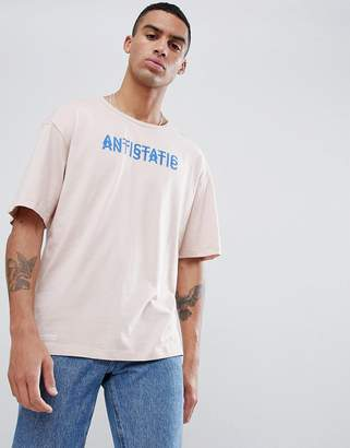Jack and Jones Core Drop Shoulder T-Shirt With Slogan