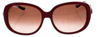 Judith Leiber Oversize Jewel-Embellished Sunglasses