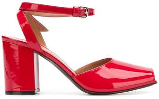 Marni squared open toe pumps