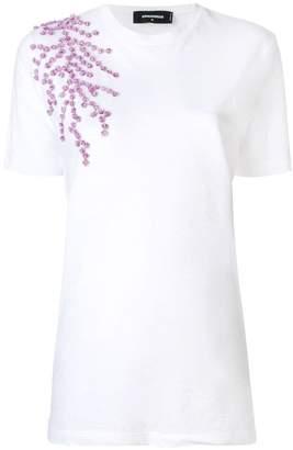DSQUARED2 floral appliqué T-shirt