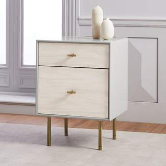 west elm Modernist Wood + Lacquer Nightstand - Winter Wood