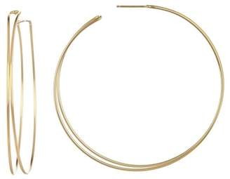Argentovivo 18K Gold Plated Sterling Silver Post Bead Large Wire Earrings