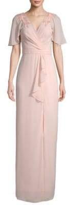 Parker Black Hannah Embellished Wrap Gown