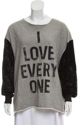 Cinq à Sept 'I Love Everyone' Sweatshirt