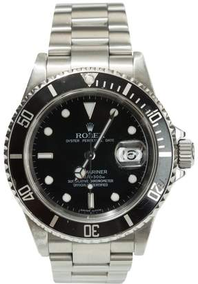 Rolex submariner stainless steel and black dial watch