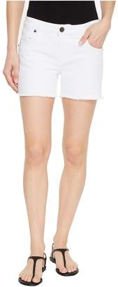 KUT from the Kloth Gidget Fray Shorts in Optic White Women's Shorts