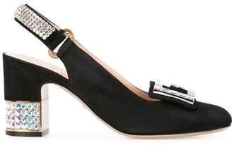 Gucci mid-heel slingback pumps