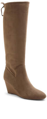 XOXO Burkey Wedge Tall Boots Women's Shoes