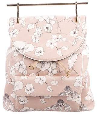 M2Malletier Floral Print Leather Backpack