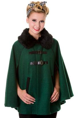 R & E Banned Vintage Cape Coat - or Red - /