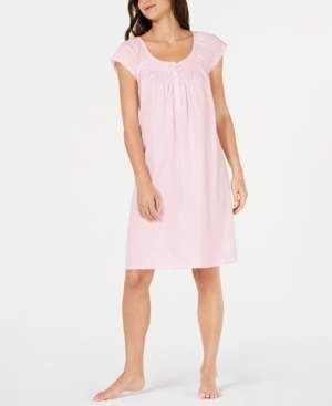 Miss Elaine Lace Trim Knit Nightgown