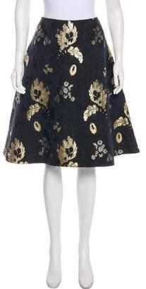 Alexander McQueen Brocade A-Line Skirt