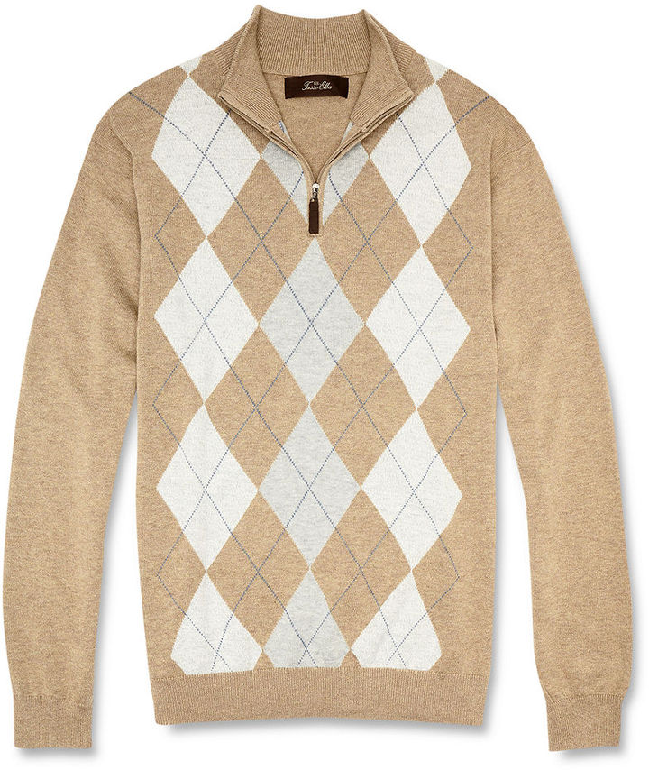 Tasso Elba Big and Tall Sweater, Argyle Sweater