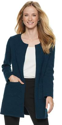 Elle Women's Textured Open-Front Cardigan