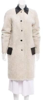 Celine Shearling Knee-Length Coat