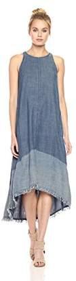 Trina Turk Women's Phlox High Low Chambray Dress