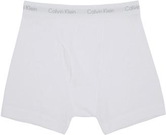 Calvin Klein Underwear White Boxer Briefs Three-Pack $40 thestylecure.com