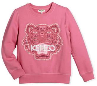 Kenzo Bubble Beads Tiger Sweatshirt, Size 8-12
