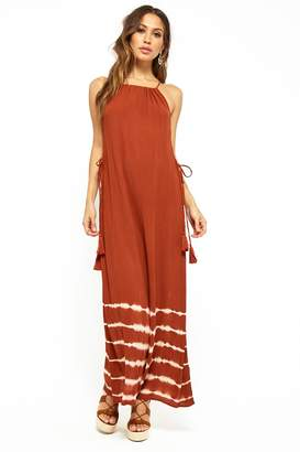 Forever 21 Tie-Dye Lace-Up Maxi Dress