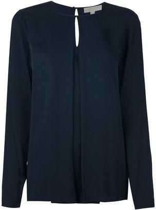Michael Kors inverted pleat blouse $240.60 thestylecure.com