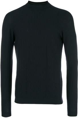 Giorgio Armani herringbone knit sweater