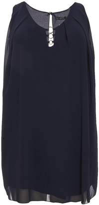 Quiz Curve Navy Chiffon Tunic Dress
