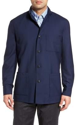 David Donahue Loro Piana Rain System(R) Water-Repellent Wool Shirt Jacket