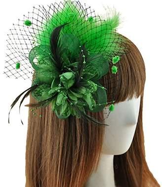 Sheliky Fascinator Feather Hair Clip Brooch Pin Wedding Bridal Headpiece for Women