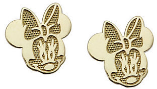 Disney Minnie Mouse Stud Earrings, 14K Gold $65.50 thestylecure.com