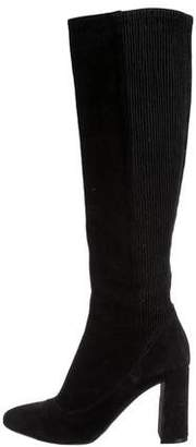 Chloé Round-Toe Suede Knee-High Boots