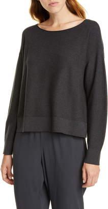 Eileen Fisher Ballet Neck Boxy Sweater