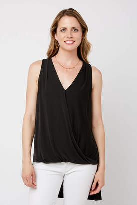 Neely Surplice High Low Wrap Front Tank Top