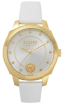 Versace Chelsea Leather Strap Watch, 34mm