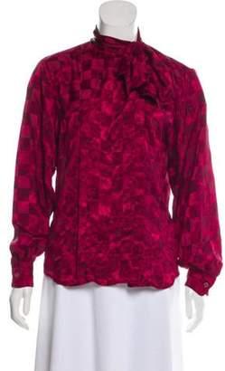 Christian Dior Long Sleeve Blouse Long Sleeve Blouse