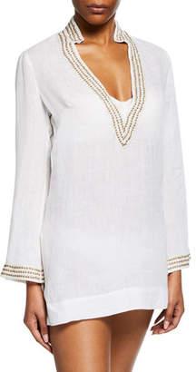 Flora Bella Diamond Long-Sleeve Tunic Coverup