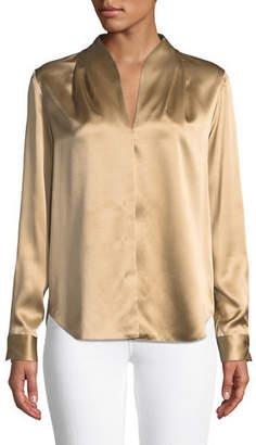 Elie Tahari Diya High-Neck Silk Blouse