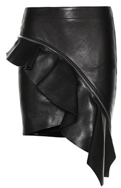 Asymmetrical Leather Skirt - ShopStyle Australia