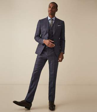 Reiss STANFORD MODERN FIT CHECK SUIT Navy