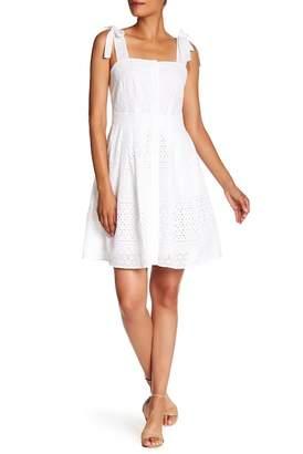 Rachel Roy Eyelet Fit & Flare Dress