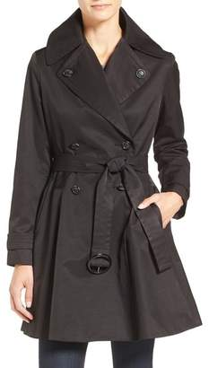 CeCe 'Sarah' Belted Skirted Double Breasted Trench $158 thestylecure.com