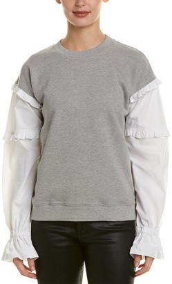 Derek Lam 10 Crosby Ruffle Sleeve Sweatshirt