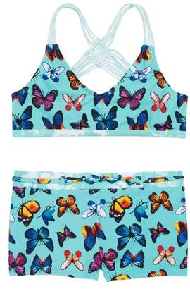 Vigoss Print Macrame Two-Piece Swimsuit