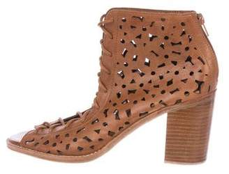 Jeffrey Campbell Laser Cut Lace-Up Boots