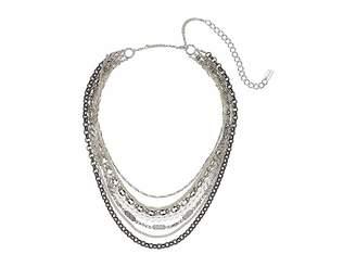 Chan Luu Multi Layer Silver Short Necklace