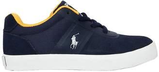 Ralph Lauren Cotton Canvas & Suede Sneakers