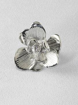 Engraved Flower Ring